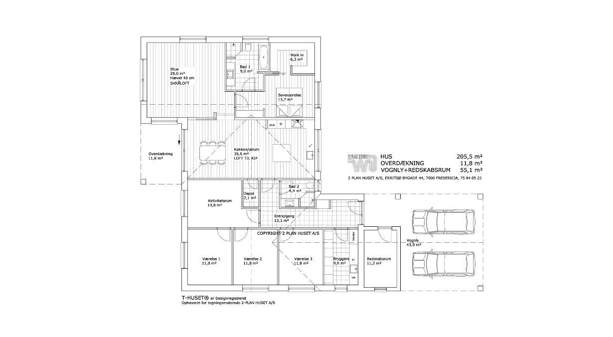 arkitekttegnede huse i 2 etager